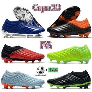 2022 En COPA 20 FG Futbol Cleats Ayakkabı Erkekler Futbol Çizmeler Gümüş Metalik Aktif Kırmızı Beyaz Üçlü Volt Erkek Sneakers Eğitmenler US 6.5-11