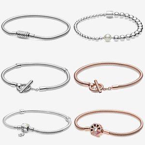 Color T-bar Snake Chain Bracelet Charm Bracelet 2021 New for Girl Arrivals Rose Gold Silver Zircon Round Cn(origin) Miaoyanmei C0305