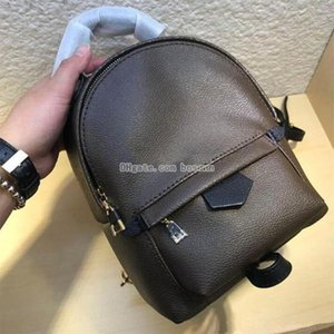 Women Daypack Spring Mini Backpack Purse Monogram Canvas and Leather Trim Purse Ladies Shoulder Fashion Bags