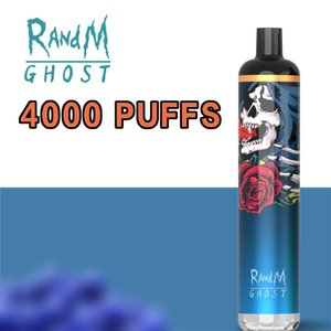wholesale R and M Disposable E Cigarette directly factory RandM Ghost 4000 Puffs dazzle with USB charging port 10 Color