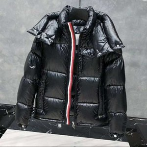 Mens Down Jacket Parkas Coats Winter Hooded Top Quality Men Women Casual Outdoor Feather Outwear Keep warm Thick double zipper Removable hat Asian size