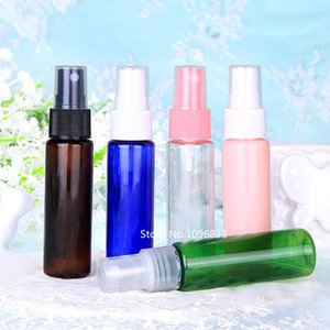 60pcs 30ML Plastic Bottles Refillable Reusable Mini Small Spray Bottle with Atomizer Pumps for Essential Oils Travel DIY Gift