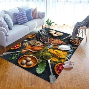 Carpets Spice Pattern Livingroom Carpet Bedroom Bedside Decor Children Mat Kids Room Hallway Large Rug Outdoor Fluffy