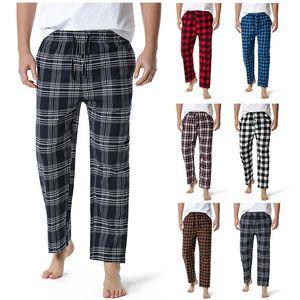 Pantalon Home Head Heart Flanelle Spring Automne Automne Sleep Bottoms Mâle Pantalon Pantalon Plaque de nuit Pantalon de pyjama pour hommes