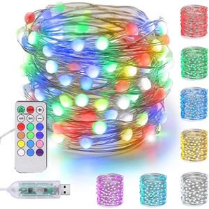 LED Fariy String Light USB 12Color 18Key Remote Control Garland Lamp Christmas Decoration TV Strip Backlight Outdoor Lighting