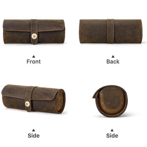 Watch Roll Display Box Leather Travel Watch Case Wrist Pouch Storage Watches F2T0