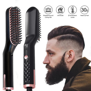 3in1 Straightener Hot Heating Comb Hair Straightener Brush Mutifunctional Hair Comb Smoothing Iron Hair Straightening Brush