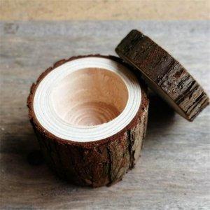 مخصص ريفي خشبي خاتم خاتم حامل مربع خمر الخشب خاتم مربع حامل البلد الزفاف الديكور تفضل
