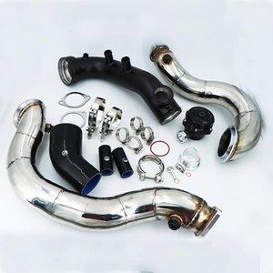 Части коллектора N54 3.0T E82 E88 E90 E92 E8X E9X 135i 335i Набор впускной трубы Turbo 135i 335i + 50 мм BOV +3 '' Satless Downpipe