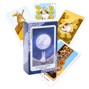 Newest Lunalapin Rabbit Tarot Party Table Board Game Deck Fortune-telling oracles Cards