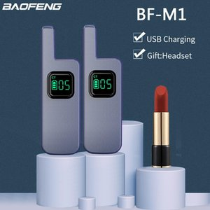 Walkie Talkie 1 2pcs Baofeng M1 M2 Mini USB Fast Charger For BF-888s CB Portable 16CH Radio With Headset Long Standby Time