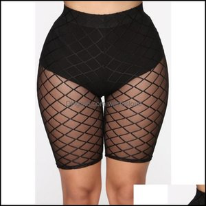 Er-Ups Swimming Equipment Sports & Outdoorser-Ups Sexy Shorts Women See Through Mesh Trousers Leggins Sheer High Waist Skinny Stretchy For W