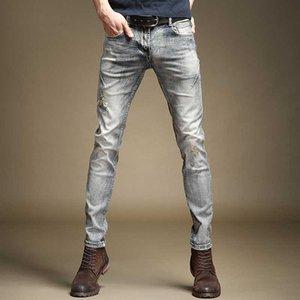 Frete Grátis Novo Homens Masculino High-End Jeans 2021 Restauração Trendy Slim-Fit bonito velho clássico Retro Retro Denim Broek