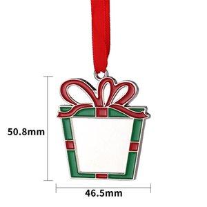 Sublimation Christmas Ornaments Metal Heat Transfer Printing Pendants Blanks Customized Gift Christmas Tree Diy Decoration with Blank Aluminum Sheet