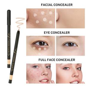 DEROL Concealer Pen Cover Acne Marks Spots Dark Circles Moisturizing Foundation Makeup Concealer Pen Face Foundation 4 Colors