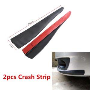 2x Karbon Fiber Araba Tampon Kapı Kenar Anti-Scratch Crash Strip Trim Aksesuarları
