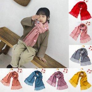 Scarves & Wraps Children's Scarf Imitation Cashmere Autumn And Winter Children Baby Warm