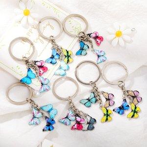 Nouveau-Coloré Papillon Papillon Charme Porte-clés d'insectes Carte de voiture Sac Femme Sac Accessoires Bijoux Cadeaux