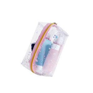 HBP PVC cosmetic bag women&#39s hand holding transparent waterproof wash travel large-capacity beauty bags
