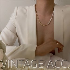 Korean Chain Natural Women's Cool Pearl Necklace Baroque