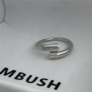 MBUSH senior letter LOGO ring 925 sterling silver fashion couple light luxury niche street wild brand jewelry