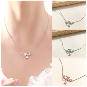 Chains Water Drop Planet Girl Sweet Student Girlfriend Necklace Suitable For Young And Cute Necklaces Birthday Gifts Wedding Jewelry