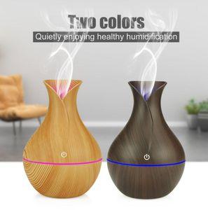 Eletrodomésticos Cool Humidifier Humidificador de madeira grão elétrico Essentials Difusor LED Aromaterapia Óleo Essencial Laroma Difusores