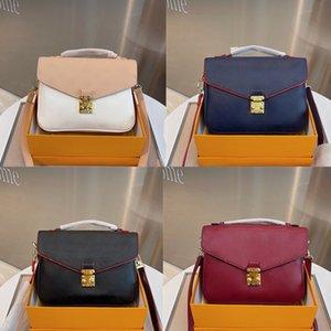Cowhide Emboss POCHETTE METIS Messenger Bags Women Fashion Shoulder Crossbody Bag Designer Luxurys Handbags Real Leather 5A+ Quality Lady Flap Purse Clutchs
