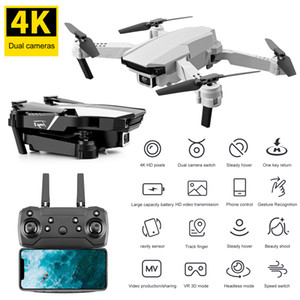2021 Hot EL62 RC Drone 4K HD Camera Professional Aerial Photography WIFI FPV Foldable Quadcopter Ravity Sensor Kid's Gift Toys