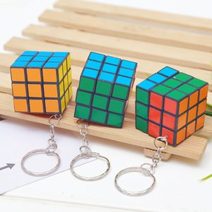 Rotatable Key Rings Magic Cube Mini Square Originality Fashion Accesories Buckle Woman Man Present Keychains 0 55zf K2