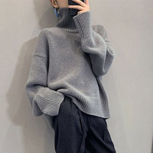 Star Faye Wong same pure woolen sweater women's thickened lazy wind loose cashmere knitting base turtleneck sweater