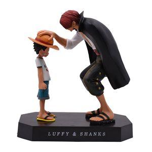 Anime One Piece Four Emperors Shanks Соломенная шляпа Luffy ПВХ Действие Фигурку и игрушечный подарок