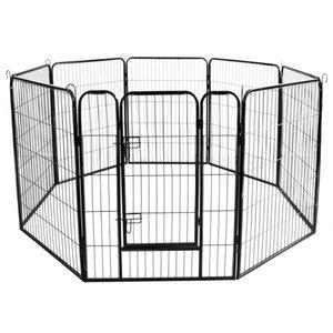 مصنع قابل للتعديل المبارزة، Trellis غيتس حساسية قابلة للشحن 8 لوحات التدريب جهاز هدية سوداء مخصص الكلب الأرنب سياج الحيوانات الأليفة