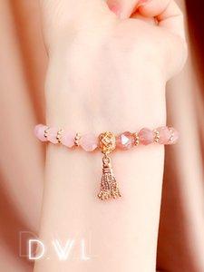 Orgone Energy Ogan energy stone Ogang bracelet women Pink crystal strawberry crystal bracelet orgone bracelets