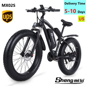 US Shengmilo E-Bike MX02S Électrique 1000W Mountain Vélo 17Ah 48V Li-ion City Fat Tire Bélier Vélo Snow Beach Cruise Unisexe