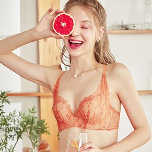 Summer bras gathered without steel ring small bra sexy lace back up adjustable underwear suit for women