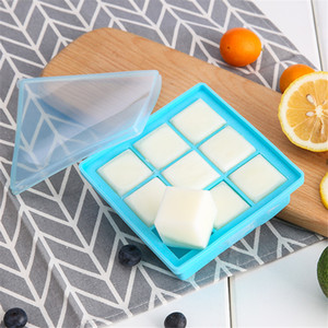 Silicone Ice Cube Molds Icy Block Mold Silica Gel Popcicle Mould Ice Cream DIY Tool With Cover 4 9 25 Grids 5 3 2cm BPA-free