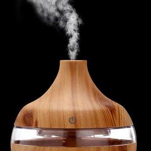 Difusor de aromaterapia de óleo essencial de grão de madeira Difusor de aromaterapia USB cobrando home room homeidificador Purify Soothing LED Night Light Mist fabricante