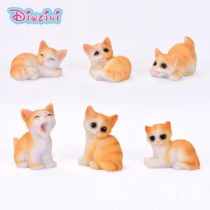 Resina gato perro cerdo modo de dibujos animados figurilla miniatura figura figura pretend juego cocina juguete muñeca casa bricolaje accesorios bebé regalo de bebé C0220