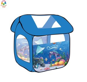 Kids play tent game house square box marine ball pool indoor and outdoor game house fence Pretend Play Toys Park Play Tent
