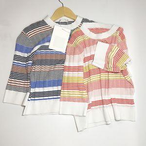 2021 Frühling Sommer Marke Dieselbe Stil Pullover Crew Hals Pullover Print Normal Kurzarm Rundhalsausschnitt Frauen Kleidung Xue