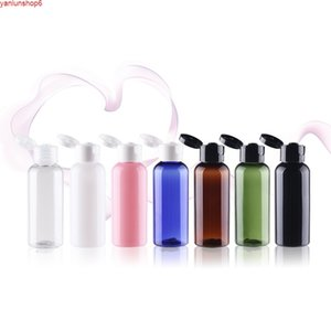 50ml few colors plastic bottle with transparent black white flip lid for water toilet toner lotion emulsion shampoo packinghigh qualtity