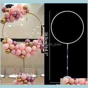 163x73 CM Circle Balloon Arch Рама Воздушные шары Стойка Держатель Комплект Свадебные Украшения BA Loon День рождения Часть Детская Душ Баллон Decor J5NX DLIGK