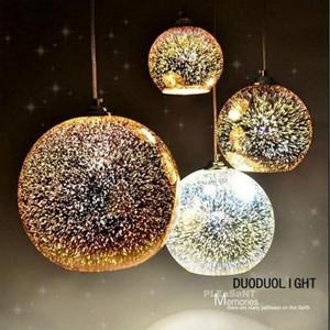 Decoration Holiday Lights Bulb 3D Ball Hanging Lamp 15CM Pendant Firework Lamp Night Light Creativity Home Holiday Decoration