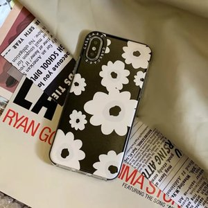 Nordic black flower fashionable mobile phone protection shell, is suitable for the iphone 11 12 XR X 8 7