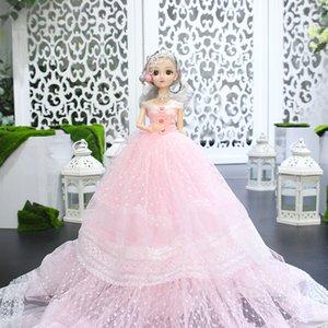Super creativo carino 55cm skirt da sposa lungo la gonna lunga Barbie Girl Princess Bambola giocattoli per bambini Gifts
