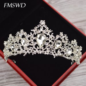 Bridal Boda Moda Crown Pop Queen Diadema Cristal Accesorios para el cabello Viajes Photography Goddess Rhinestone Crown J0121