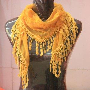 Fashion Women Lady Girl New Sheer Gasha Bordado Bufandas Bufandas Shawal Bufanda de Seda 15050 cm