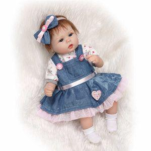 42cm Npk Reborn Soft Cloth Body Newborn Real Dolls Alive Baby Lifelike Touch Original Toys Doll Gifts
