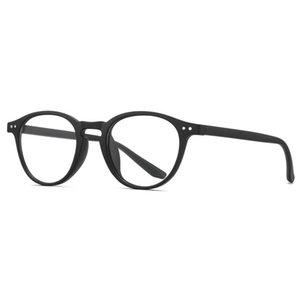Retro Computer Gläser Blau Licht Blockieren Brillen Nicht verschreibungspflichtige Optik Kleine Runde Tr90 Eyewearrahmen Doppel Metallbolzen